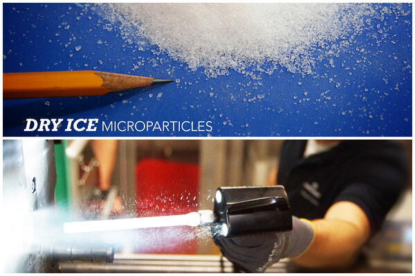 dry ice blasting microparticles